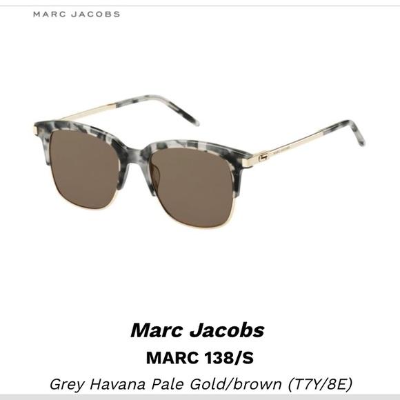 e419b48c58d2 Accessories | Marc Jacobs 138s Sunglasses Grey Havana | Poshmark